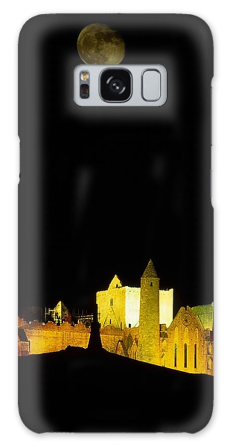 Cashel Town Galaxy S8 Case featuring the photograph Moon Over Rock Of Cashel, Co Tipperary by The Irish Image Collection