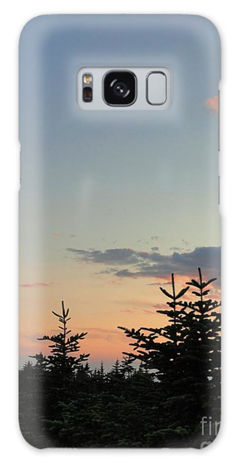 Sunset Galaxy S8 Case featuring the photograph Moon Watching The Sunset In Acadia by Meandering Photography