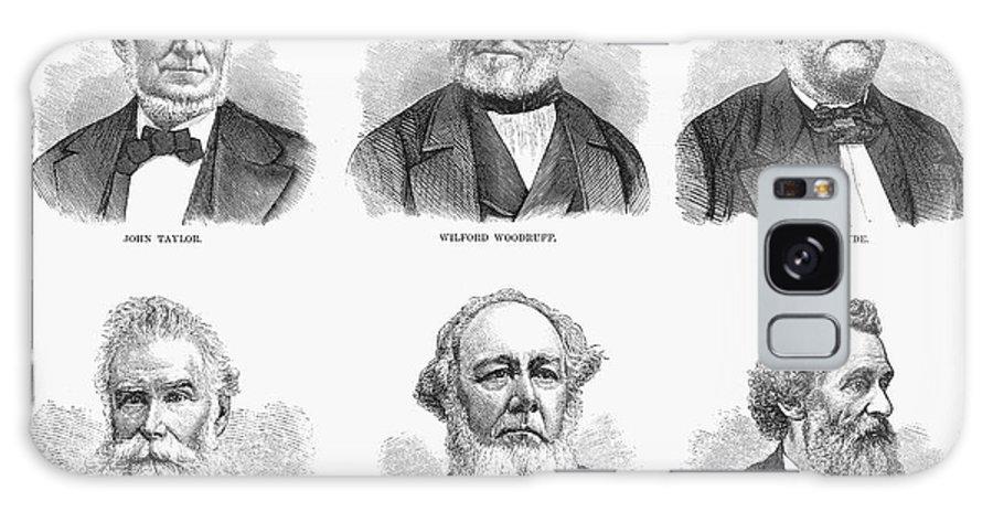 1877 Galaxy S8 Case featuring the photograph Mormon Apostles, 1877 by Granger