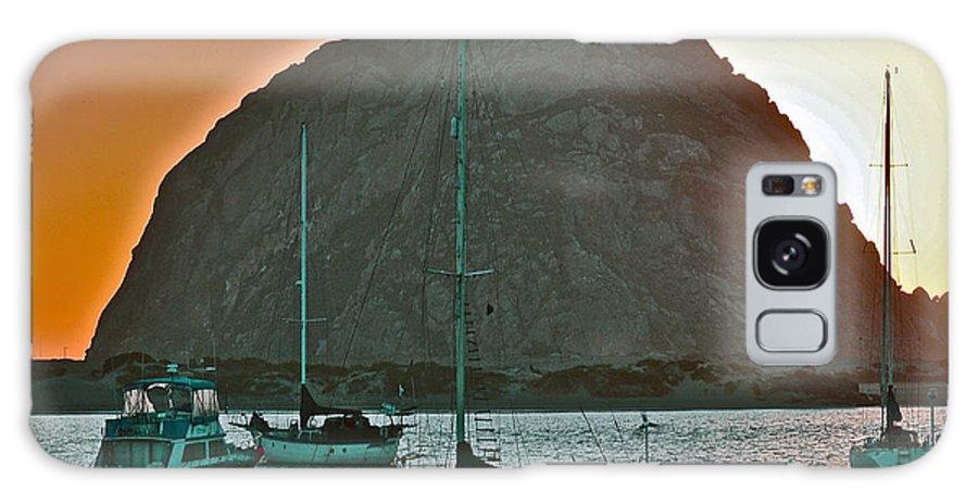 Morro Bay Galaxy S8 Case featuring the photograph Morro Bay Rock by Bill Owen