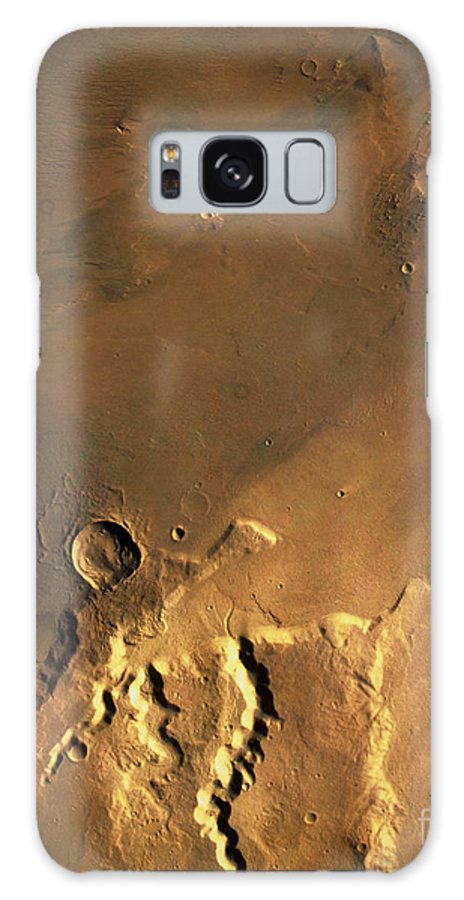 Astronomy Galaxy S8 Case featuring the photograph Mosaic Of Viking Orbiter Showing by U.S. Geological Survey