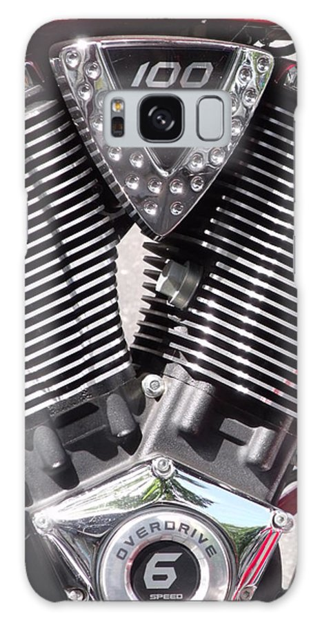 Motorcycle Engine Chrome Close Up Galaxy S8 Case featuring the photograph Motorcycle Engine Chrome by Cherokee Blue