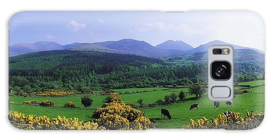 Blue Sky Galaxy S8 Case featuring the photograph Mourne Mountains, Co Down, Ireland by The Irish Image Collection