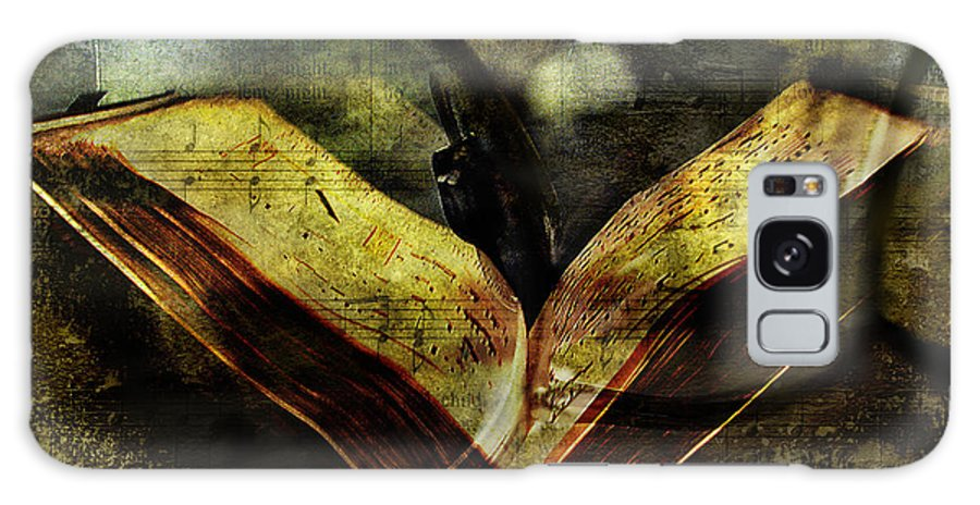 Books Galaxy S8 Case featuring the digital art Music Reading by Diane Dugas