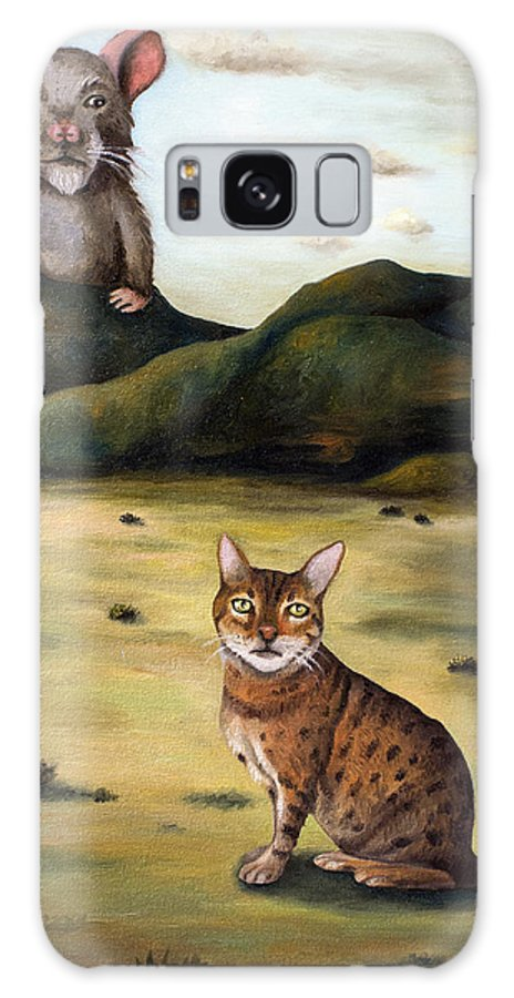 Bengal Galaxy S8 Case featuring the painting My Cats Worst Nightmare by Leah Saulnier The Painting Maniac