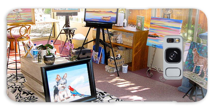 Sunroom Galaxy S8 Case featuring the painting My Studio And Paintings by Phyllis Kaltenbach