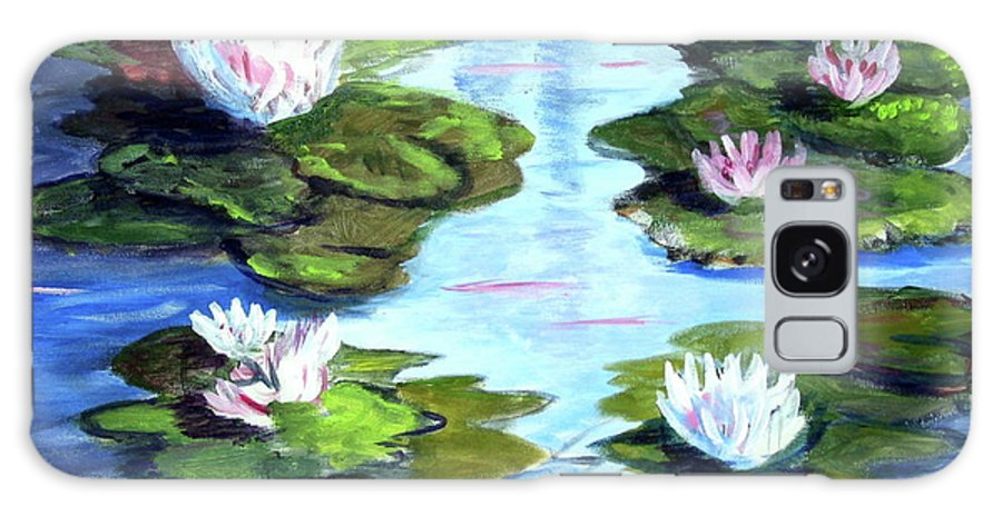 Lily Pads Galaxy S8 Case featuring the painting My Waterlilies by Phyllis Kaltenbach