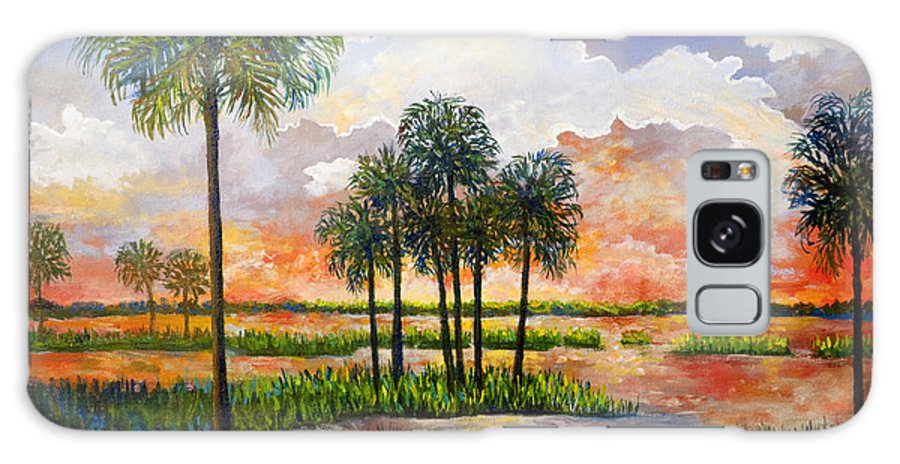 Sunset Galaxy S8 Case featuring the painting Myakka Sunset by Lou Ann Bagnall