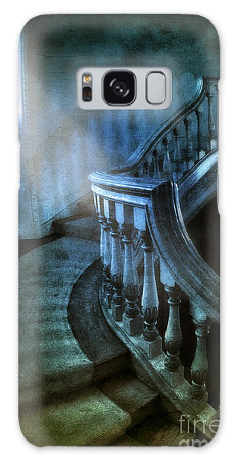 Stairs Galaxy S8 Case featuring the photograph Mysterious Stairway In Old Mansion by Jill Battaglia