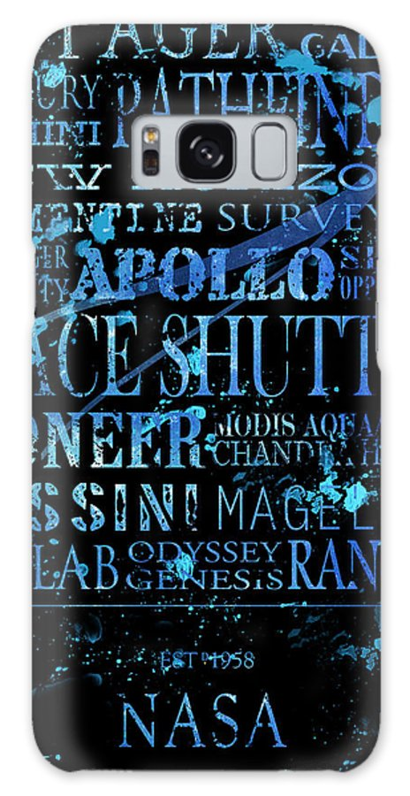 Nasa Galaxy S8 Case featuring the digital art Nasa Legacy Typography by Tanya Harrison