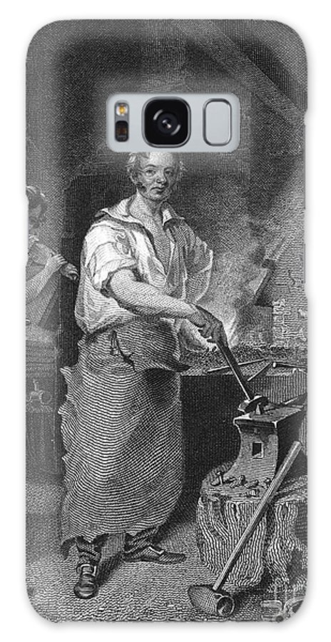 1829 Galaxy S8 Case featuring the photograph Neagle: Blacksmith, 1829 by Granger
