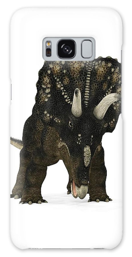 Nedoceratops Galaxy S8 Case featuring the photograph Nedoceratops Dinosaur by Walter Myers
