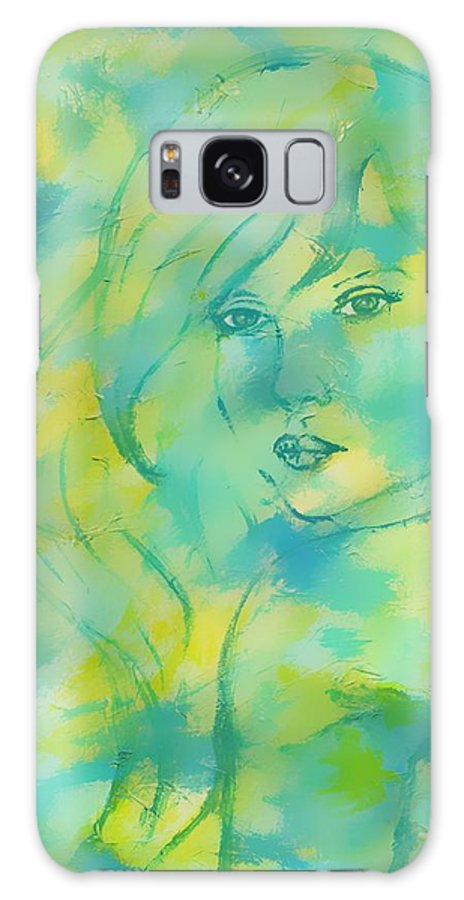 Original Painting Galaxy S8 Case featuring the painting Nerissa Daughter Of The Sea by The Art With A Heart By Charlotte Phillips