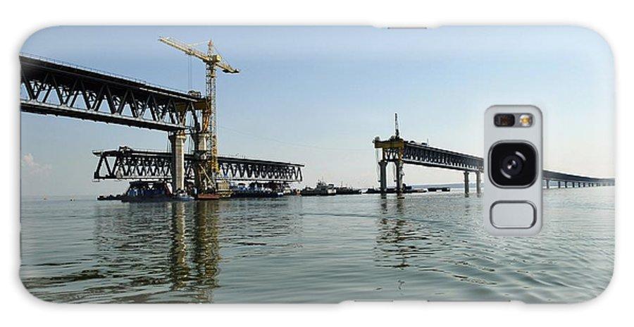 New Ulyanovsk Bridge Galaxy S8 Case featuring the photograph New Ulyanovsk Bridge, Russia by Ria Novosti