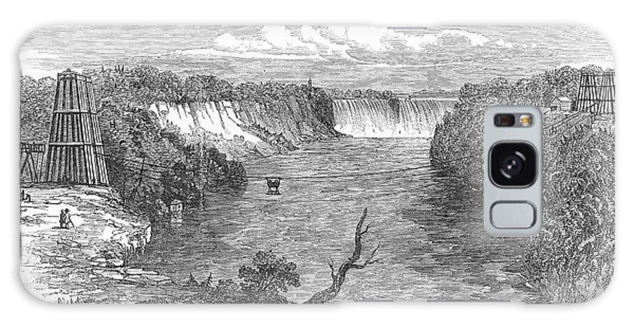 1849 Galaxy S8 Case featuring the photograph Niagara Falls, 1849 by Granger
