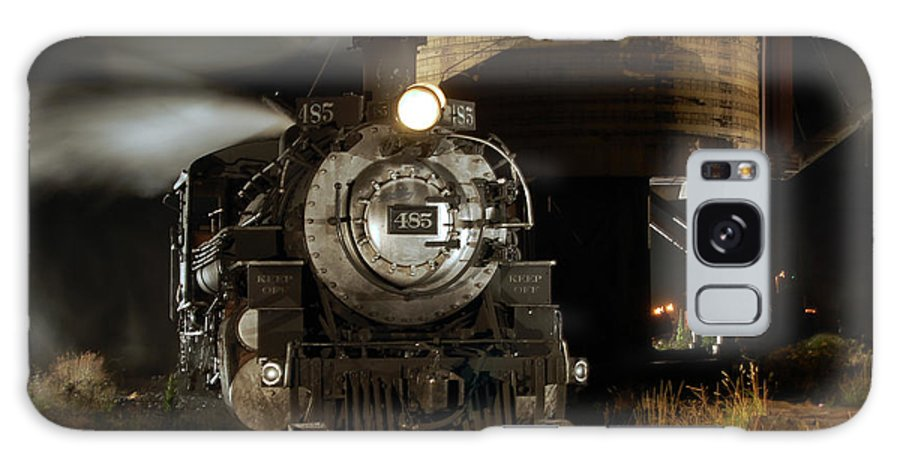 Steam Train Photographs Galaxy S8 Case featuring the photograph Night At The Water Tower by Ken Smith