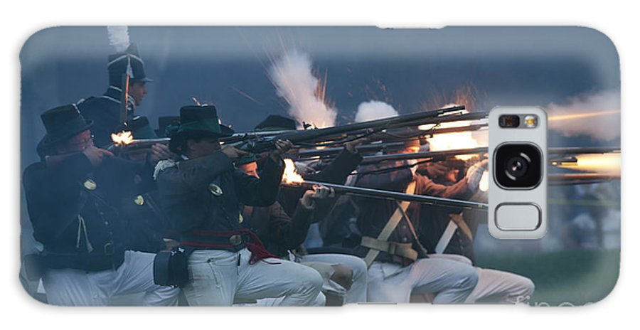 War Of 1812 Galaxy S8 Case featuring the photograph Night Firing by JT Lewis
