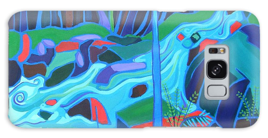 Forest Galaxy S8 Case featuring the painting North Woods River 2 by Debra Bretton Robinson