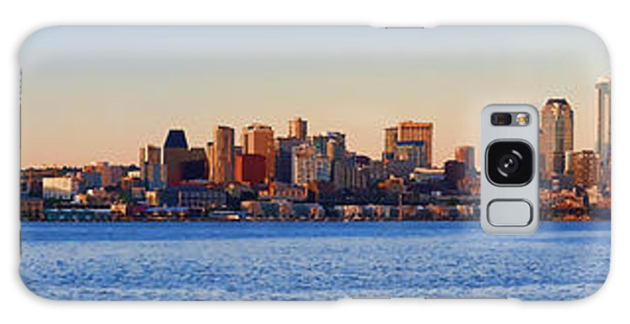 Digital Photo Art Galaxy S8 Case featuring the photograph Northwest Jewel - Seattle Skyline Cityscape by James Heckt