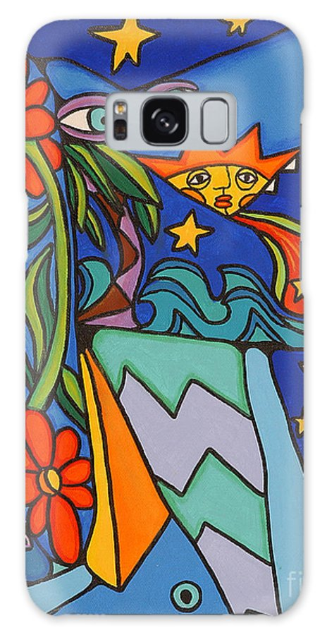 Portrait Galaxy S8 Case featuring the painting Not That Blue Dog by David Craig