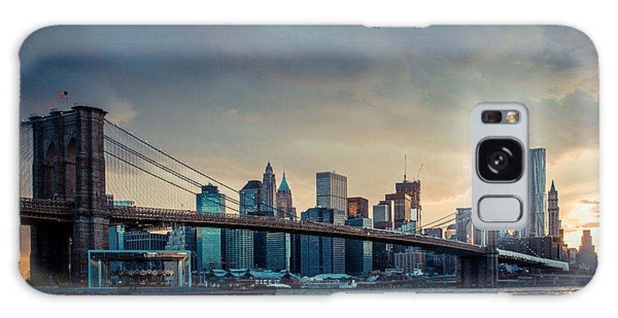 Nyc Galaxy S8 Case featuring the photograph Nyc Skyline In The Sunset V1 by Hannes Cmarits