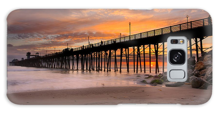 Larry Marshall Galaxy S8 Case featuring the photograph Oceanside Sunset 7 by Larry Marshall