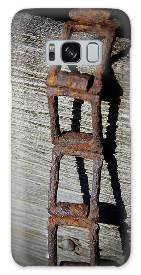 Vintage Chain Galaxy S8 Case featuring the photograph Old Chain And Barn Wood by Steve McKinzie