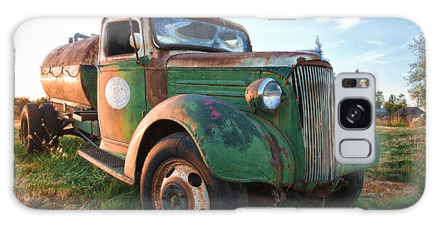 Truck Galaxy S8 Case featuring the photograph Old Chevy Tanker Truck by Steve McKinzie