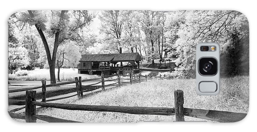 Infrared Galaxy S8 Case featuring the photograph Old Country Saw-mill by Paul W Faust - Impressions of Light