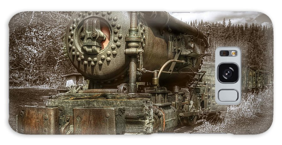 Train Galaxy S8 Case featuring the digital art Old Mine Train Banff by Diane Dugas