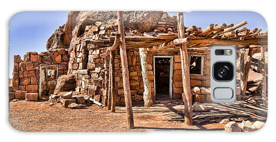 Navajo Galaxy S8 Case featuring the photograph Old Navajo Stone House by Jon Berghoff