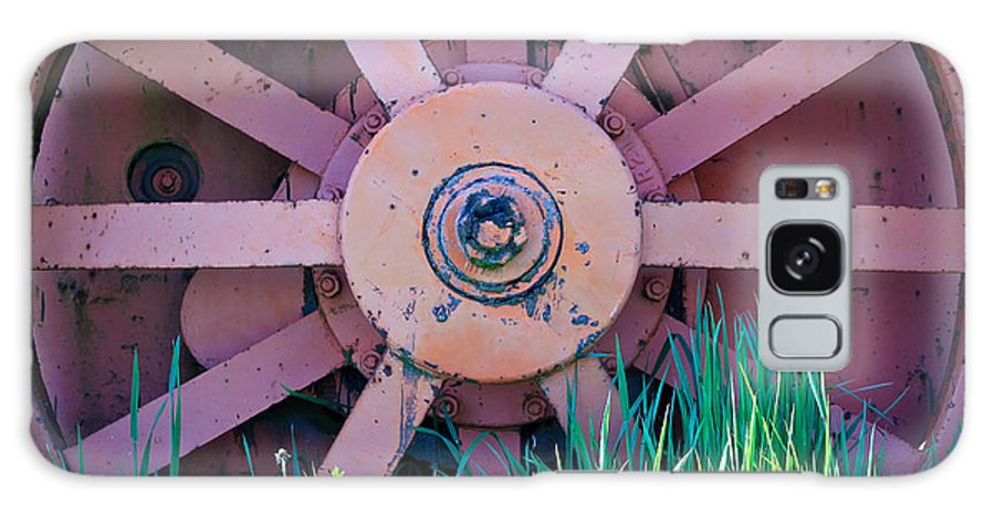 Farm Equipment Galaxy S8 Case featuring the photograph Old Spokes by Steve McKinzie