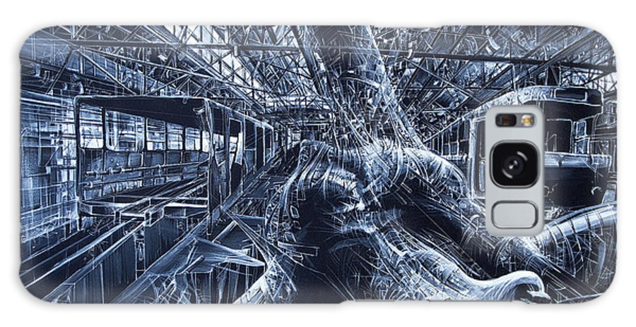 Landskape Galaxy S8 Case featuring the painting Old Subway by Bekim Mehovic