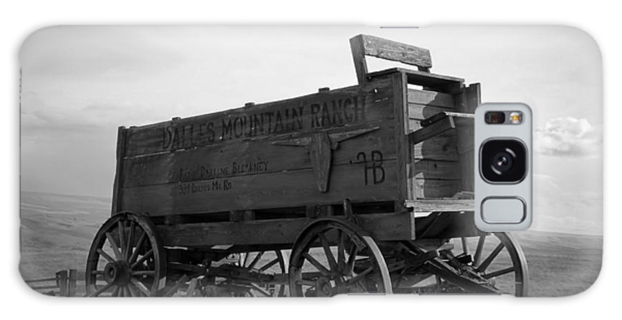 Wood Galaxy S8 Case featuring the photograph Old West Wagon by Steve McKinzie