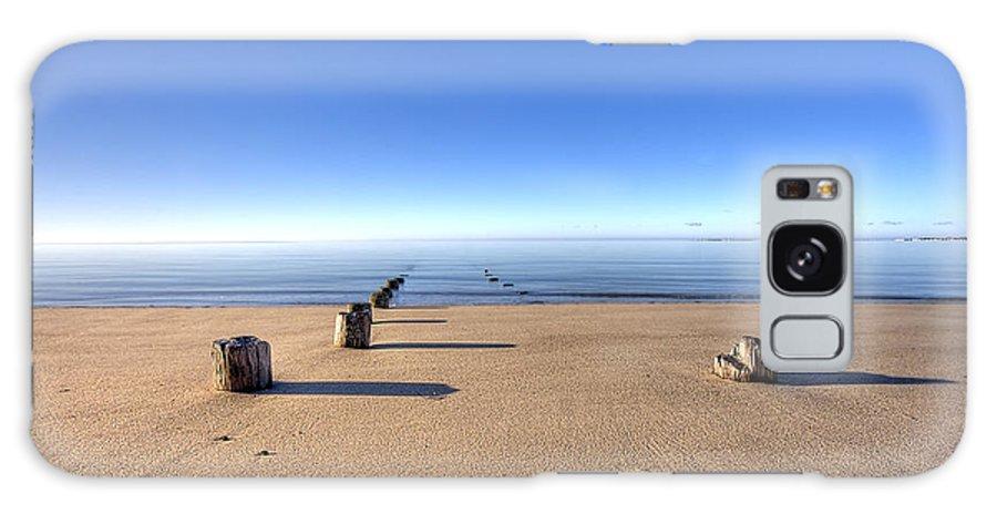 Old Wharf Galaxy S8 Case featuring the photograph Old Wharf At Pilgrim Beach Truro Ma by Dapixara Art
