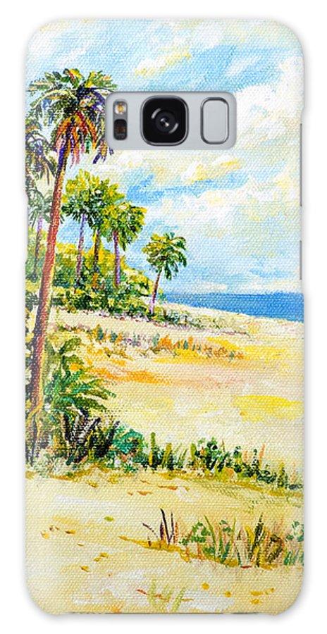 Beach Galaxy S8 Case featuring the painting On The Beach by Lou Ann Bagnall