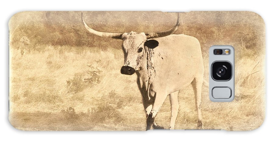Texas Longhorn Galaxy S8 Case featuring the photograph On The Run by Betty LaRue