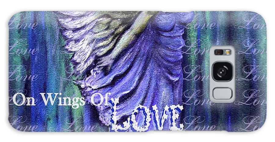 Angel Galaxy S8 Case featuring the mixed media On Wings Of Love Angels Sing by The Art With A Heart By Charlotte Phillips