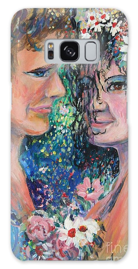 Woman Galaxy S8 Case featuring the painting Once Upon A Time by Avonelle Kelsey