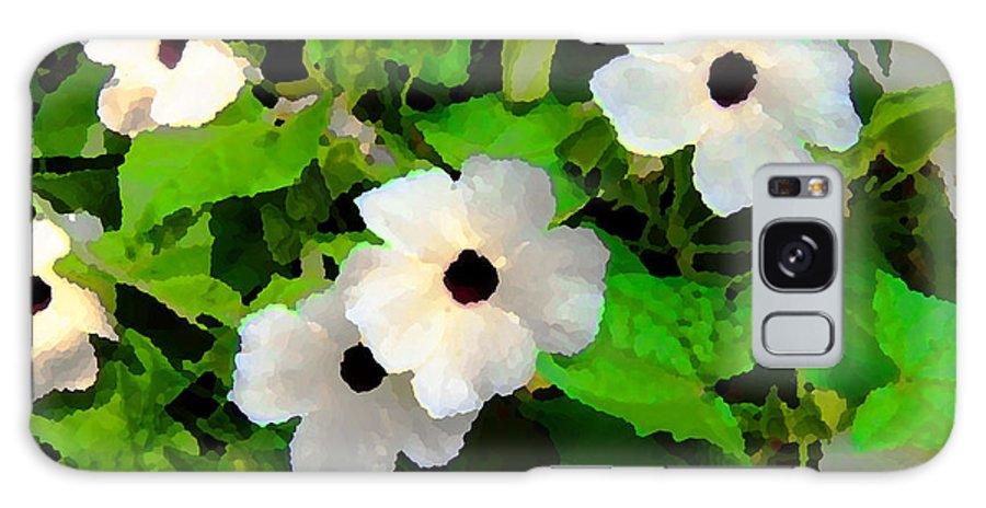 Nature Galaxy S8 Case featuring the digital art One Eye White Flower by Eva Kaufman