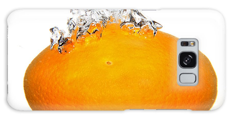 Water Galaxy S8 Case featuring the photograph Orange Drop by Lloyd Alexander