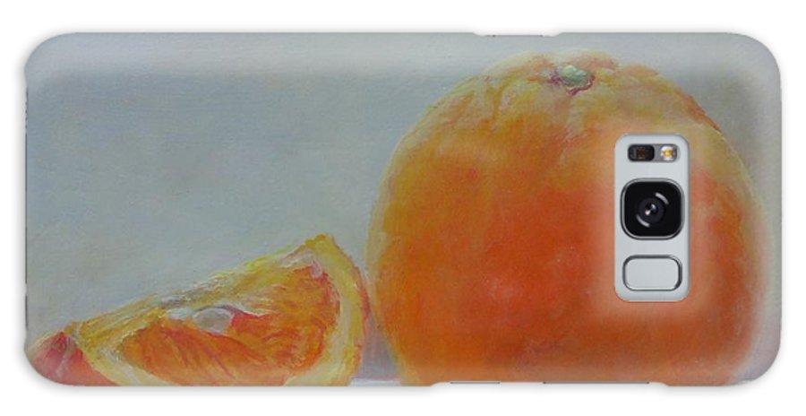 Acrylic Galaxy Case featuring the painting Orange un Quart by Muriel Dolemieux