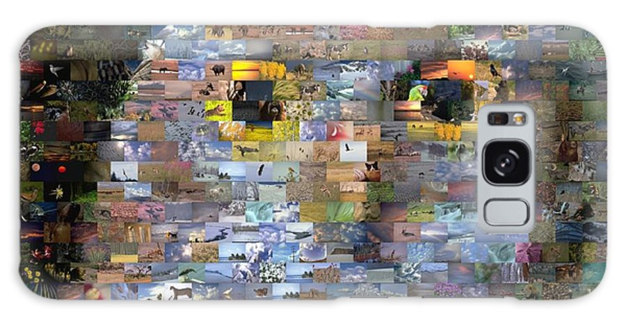 Owl Galaxy S8 Case featuring the digital art Owl Mosaic by Paul Van Scott