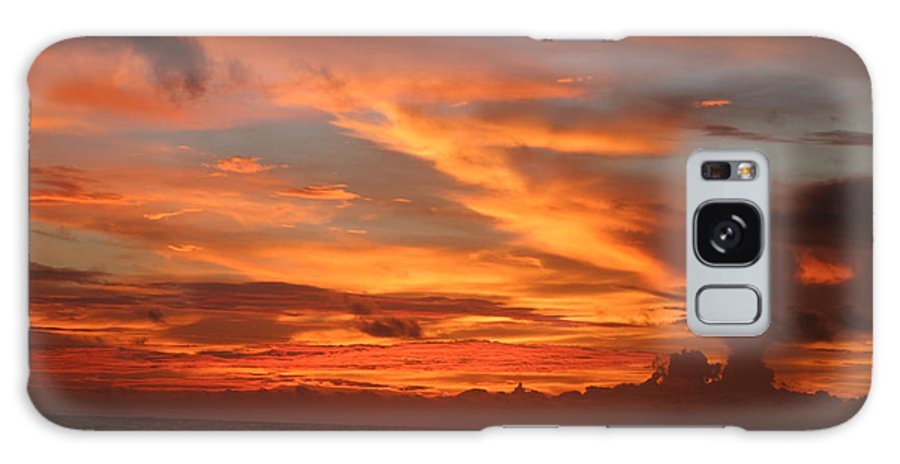 Sunset Galaxy S8 Case featuring the photograph Pacific Sunset Costa Rica by Michelle Constantine