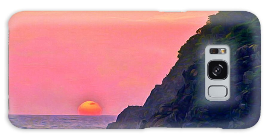 Beach Galaxy S8 Case featuring the painting Pacific Sunset by Bob and Nadine Johnston