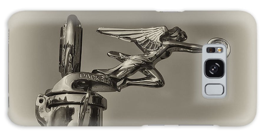 Packard Angel Hood Ornament Galaxy S8 Case featuring the photograph Packard Angel Hood Ornament In Sepia by Bill Cannon