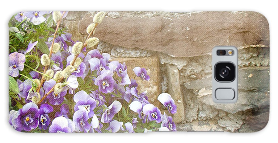 Pansies Galaxy S8 Case featuring the photograph Pansies And Pussywillows by Mother Nature