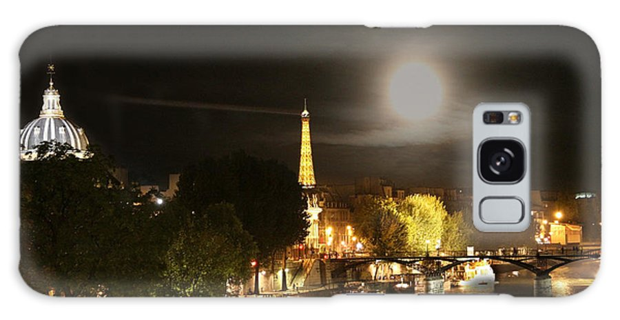 Paris Galaxy S8 Case featuring the photograph Paris At Night by Diana Haronis