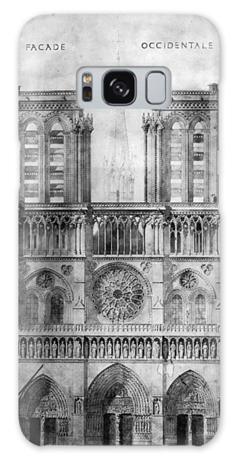 1848 Galaxy S8 Case featuring the photograph Paris: Notre Dame, 1848 by Granger