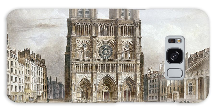 1820s Galaxy S8 Case featuring the photograph Paris: Notre Dame, C1820s by Granger